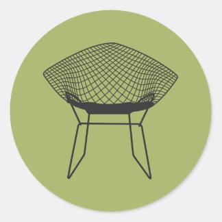 世紀半ばのモダンなダイヤモンドの椅子 ラウンドシール
