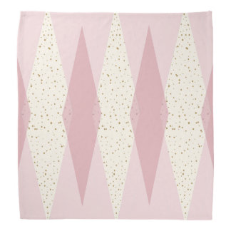 世紀半ばのモダンなピンクのアーガイル柄のなバンダナ バンダナ