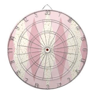 世紀半ばのモダンなピンクのアーガイル柄のな投げ矢板 ダーツボード