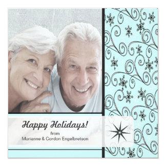 世紀半ばのモダンなレトロのクリスマスのカスタムの写真 カード