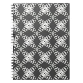 世紀半ばのモダンな原子プリント-チャコールグレー ノートブック