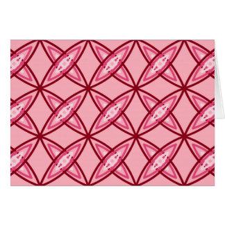 世紀半ばのモダンな原子プリント-バレエのピンク カード