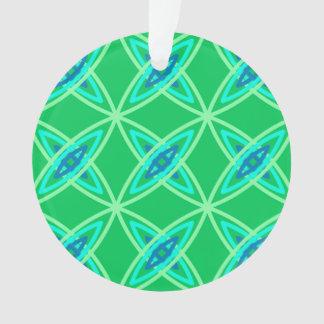 世紀半ばのモダンな原子プリント-ヒスイ緑 オーナメント