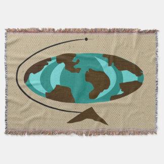 世紀半ばのモダンな地球の芸術のブランケット スローブランケット