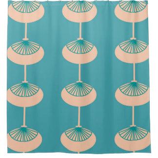 世紀半ばのモダンな楕円形の抽象芸術 シャワーカーテン