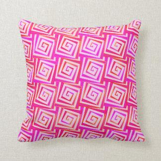 世紀半ばのモダンな正方形のらせん状-ピンクの数々の クッション