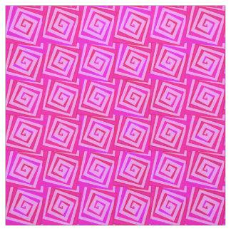 世紀半ばのモダンな正方形のらせん状-ピンクの数々の ファブリック