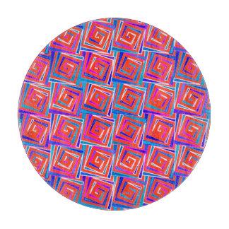 世紀半ばのモダンな正方形のらせん状-赤い数々の カッティングボード