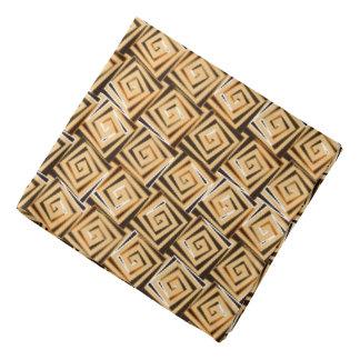 世紀半ばのモダンな正方形のらせん状-黄褐色の数々の バンダナ