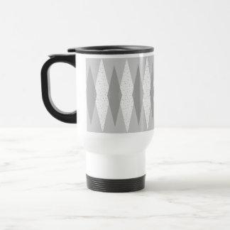 世紀半ばのモダンな灰色のアーガイル柄のなタンブラー トラベルマグ