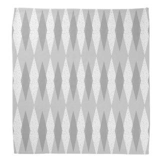 世紀半ばのモダンな灰色のアーガイル柄のなバンダナ バンダナ