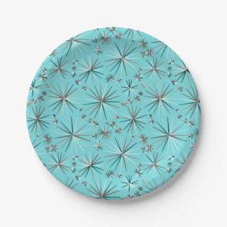 世紀半ばのSputnikパターン、ロビンの卵の青 ペーパープレート