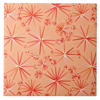 世紀半ばのSputnikパターン、珊瑚の陰 タイル