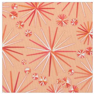 世紀半ばのSputnikパターン、珊瑚の陰 ファブリック