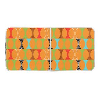 世紀半ばモダンなオレンジパターンPongのテーブル ビアポンテーブル
