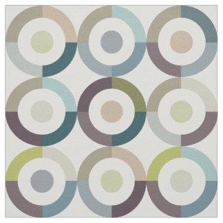 世紀半ばモダンな色のブロックはパターンを鳴らします ファブリック