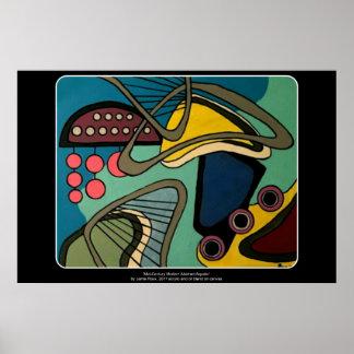 「世紀半ばモダン抽象芸術水生に」の絵を描くこと ポスター