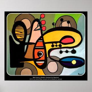 「世紀半ばモダン抽象芸術絵を描く機械」の ポスター