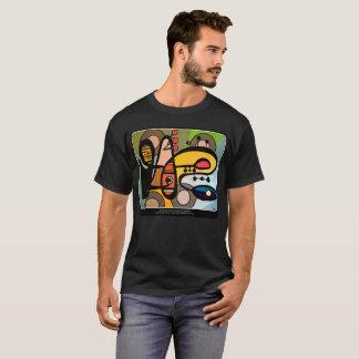 「世紀半ばモダン抽象芸術絵を描く機械」の Tシャツ