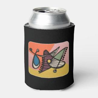 「世紀半ばモダン抽象芸術、絵を描いている蝶」の 缶クーラー