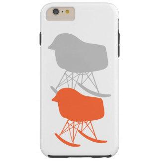 世紀半ば灰色パターン椅子のシルエット TOUGH iPhone 6 PLUS ケース