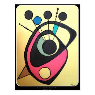 「世紀半ばaのモダンな静物画黄色」の ポストカード