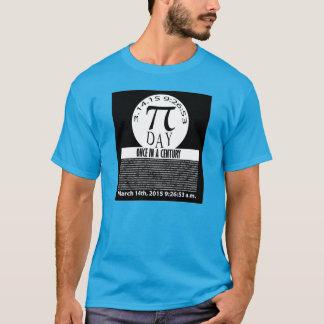 世紀2015年3月14日の一度Pi日Tシャツ Tシャツ