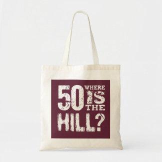 丘のおもしろいな第50誕生日BU01があるところ50 トートバッグ