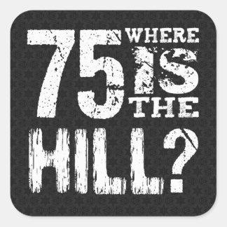 丘のおもしろいな第75誕生日BL75Zがあるところ75 スクエアシール