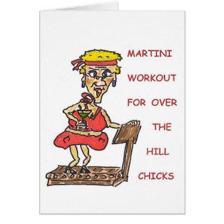丘のひよこの誕生日にわたるのためのマルティーニのトレーニング カード