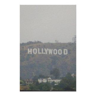 丘のハリウッドの印 便箋