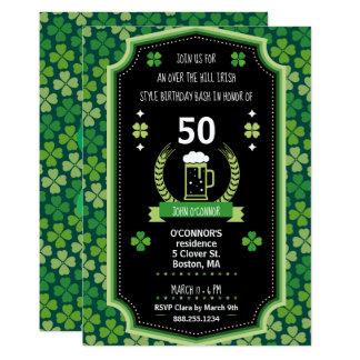 丘のパーティの招待状上のセントパトリックの日 カード