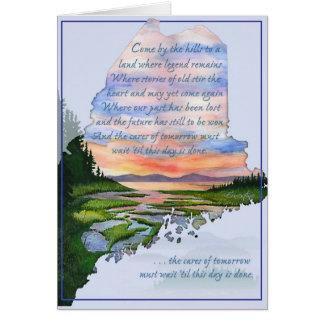 丘のメインの海岸の挨拶状によって来られる カード