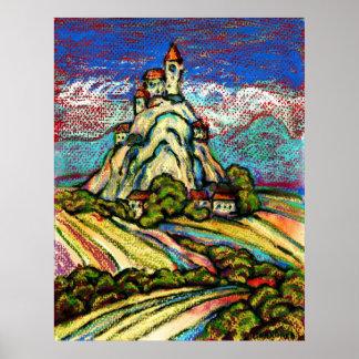 丘の城のファンタジー ポスター