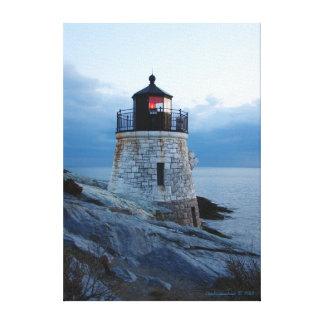 丘の灯台ニューポートのRIのキャンバスのプリントを城郭で囲んで下さい キャンバスプリント