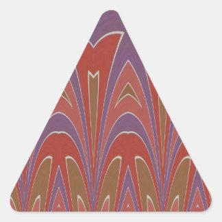 丘の頂上のアズテック人に 三角形シールステッカー