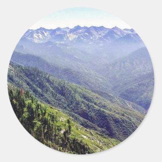 丘上の霧 丸型シール