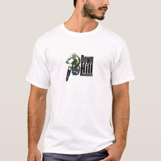 丘Mentalist山のバイクもしくは自転車に乗る人のTシャツ Tシャツ