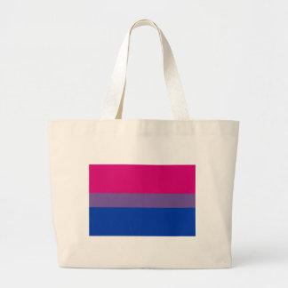 両性のプライドの旗 ラージトートバッグ