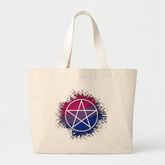 両性のプライドの星形五角形 ラージトートバッグ