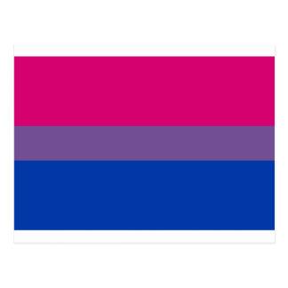 両性LGBTのプライドの虹の旗 ポストカード