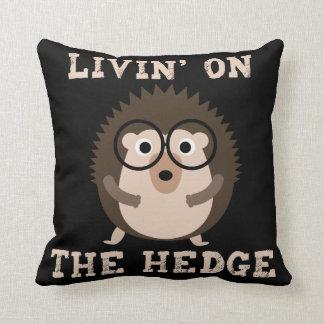 両掛けのおもしろいなヒップスターのハリネズミのLivin クッション