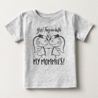 両方の私のお母さん ベビーTシャツ