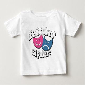 両極Ridin ベビーTシャツ