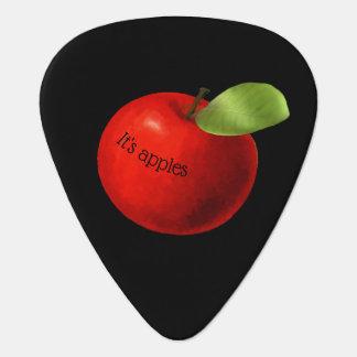 両面りんごおよびオレンジ ギターピック