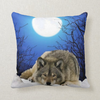 両面オオカミの枕 クッション