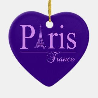 両面パリフランスのオーナメント セラミックオーナメント