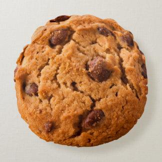 両面枕Chococlate破片クッキーおよびピザ ラウンドクッション
