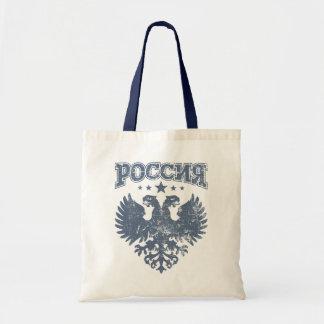 両頭のロシアのなワシの記号 トートバッグ