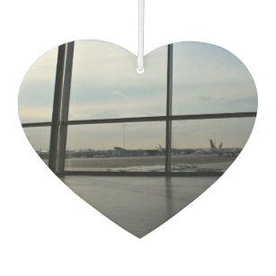 中のテーマ、窓Oからの駐車された飛行機の眺め カーエアーフレッシュナー